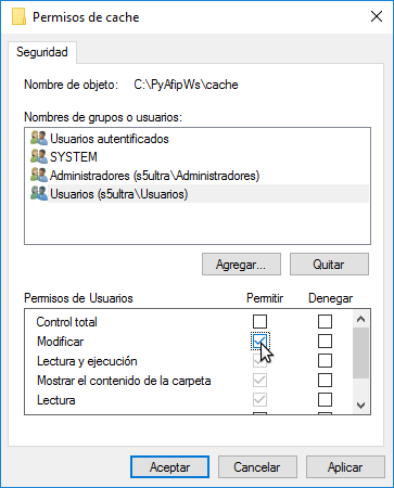 Editar Permisos de Seguridad en Windows 10 (modificar)