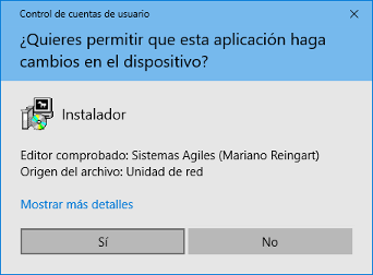 Firma Digital de instaladores (Editor Comprobado) -captura de pantalla Windows 10-
