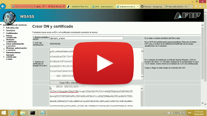 Imagen del Autogestión de Certificado Digital para AFIP (WSASS PyAfipWs)  https://youtu.be/ietDXvUzVIQ